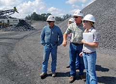 Business Assistance Program Manager on site visit at BLK Quarries