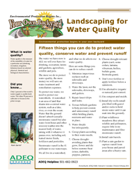 Landscaping for Water Quality
